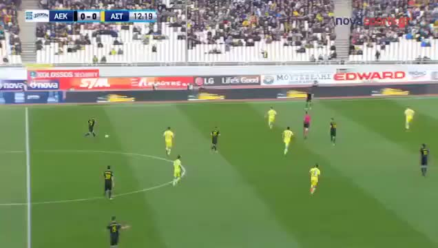 Watch and share Sergio Arajo AEK Athens Horrible Open Goal Miss Vs Asteras Tripoli  Troll Football GIFs on Gfycat