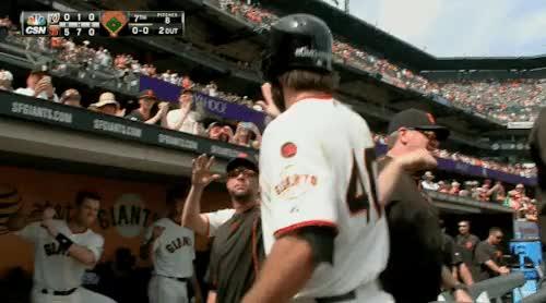 Watch this giants GIF on Gfycat. Discover more baseball, giants, madison bumgarner, mlb, pitchers who rake, pitcherscanhit, san francisco giants, sf giants GIFs on Gfycat