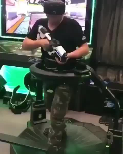 Watch and share Virtual Reality GIFs and Treadmill GIFs by tothetenthpower on Gfycat