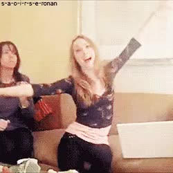 Watch Saoirse Una Ronan GIF on Gfycat. Discover more cute, dancing, gif, saoirse, saoirse ronan, video GIFs on Gfycat