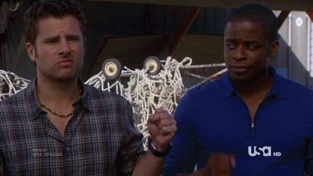James Roday, Fist Bump bro? Fist bump GIFs