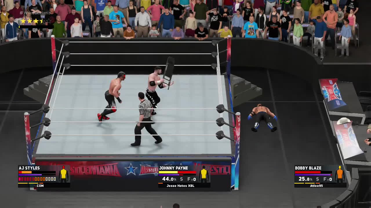 WWEGames, That's one way to use a chair... GIFs