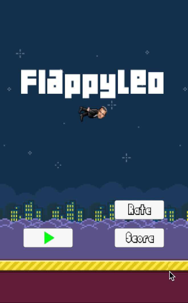 Flappy bird, Leonardo Dicaprio Wins The Oscar 2016 GIFs