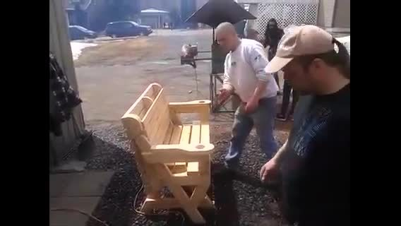 beamazed, Convertible Bench to Picnic table GIFs