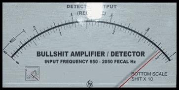 Image result for bullsh*t amplifier detector