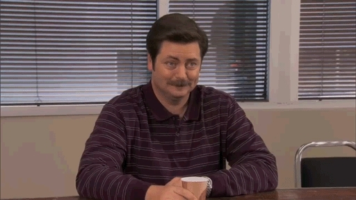 don't care, i don't care, idc, nick offerman, parks and rec, parks and recreation, ron swanson, sandersforpresident,  GIFs