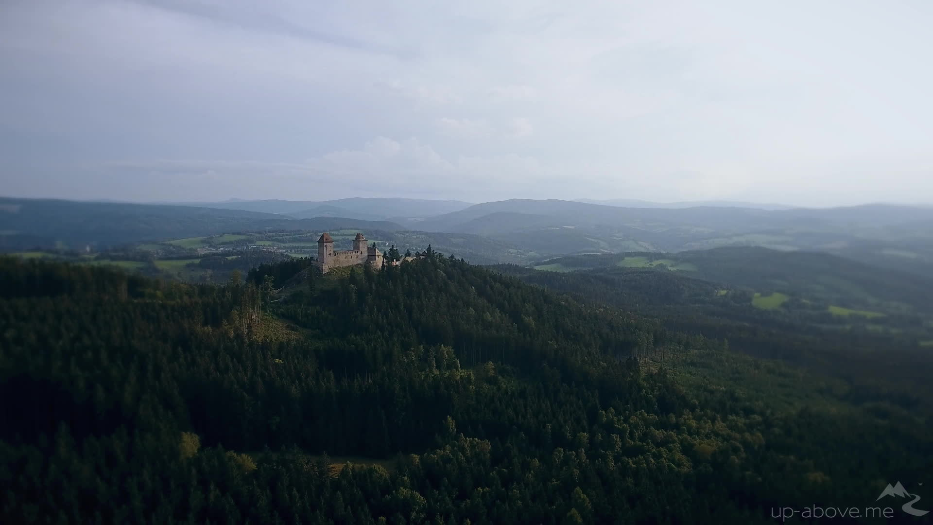 amazing, drone, gifs, nature, Up Above Hrad Kašperk GIFs