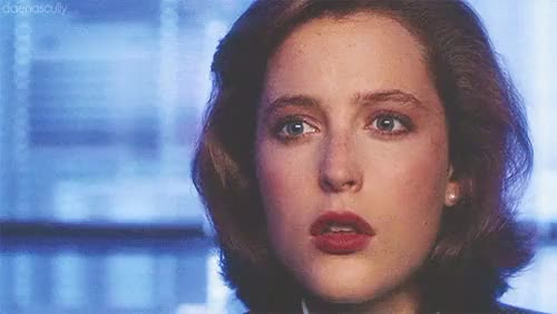 """Watch Scully being beautiful in""""Deep Throat""""  GIF on Gfycat. Discover more Gillian Anderson, dana scully, f, gifs*, smolscully, the x files, txfedit, x files GIFs on Gfycat"""