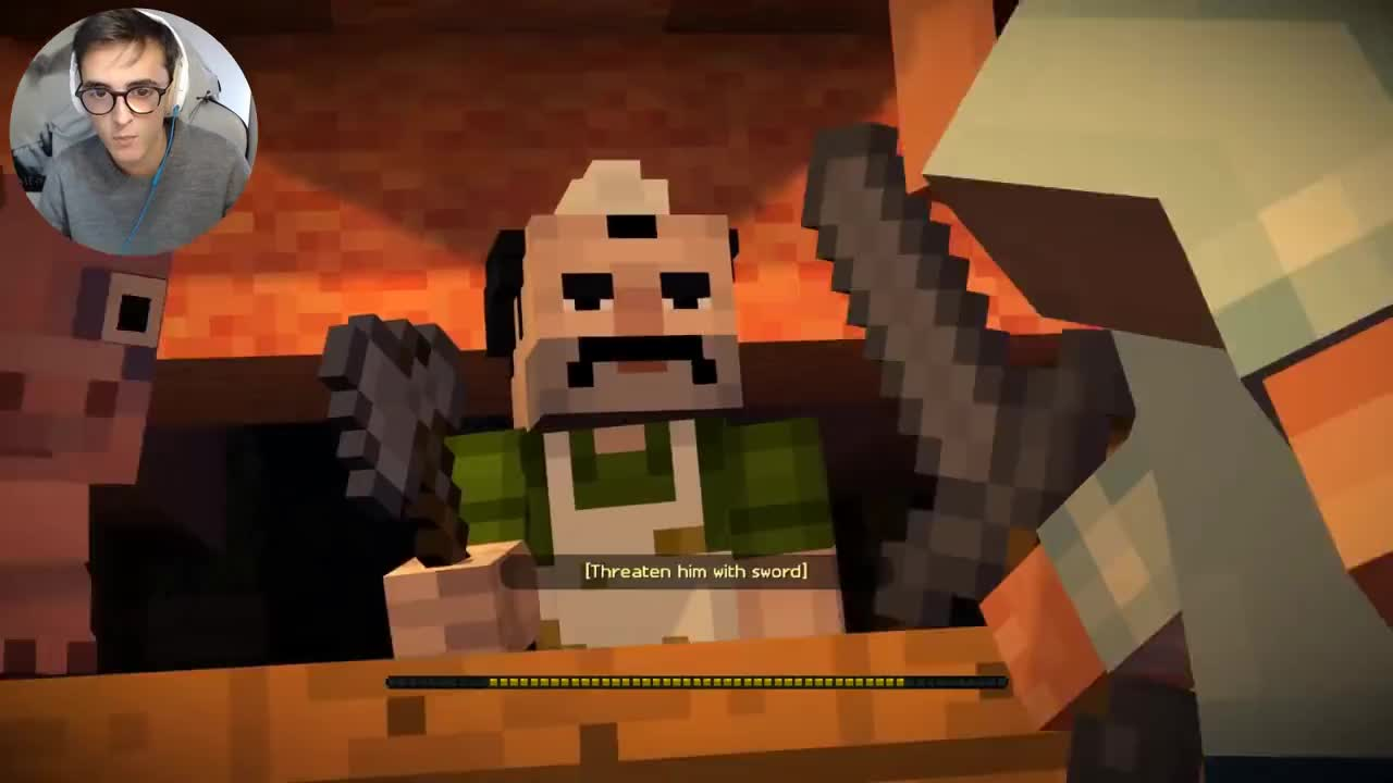Minecraft Story Mode E2 Quello E Un Wither Gif Gfycat