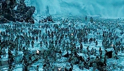 5x08, arya stark, cersei lannister, daenerys targaryen, game of thrones, jon snow, mine: game of thrones, my edits, night king, television, tv, tv show, white walkers, At least we'll give the fuckers a fight. GIFs