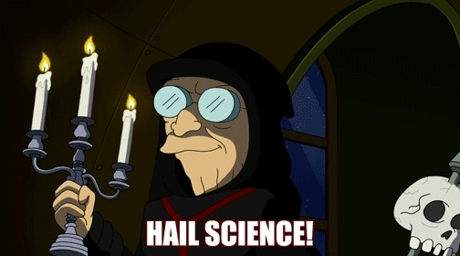 fatlogic, futurology, Hail Science! [Futurama Professor Farnsworth reveal 666 hooded evil] (reddit) GIFs