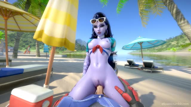Widowmaker being sexy af in my favorite animation ever (Ellowas)