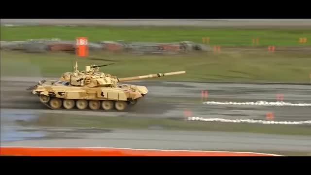Watch and share Russian T90 Flying Tank Live Firing At RAE 2015 GIFs on Gfycat
