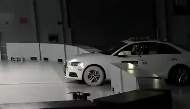 Watch and share 2017 Audi A4 Small Overlap IIHS Crash Test GIFs on Gfycat