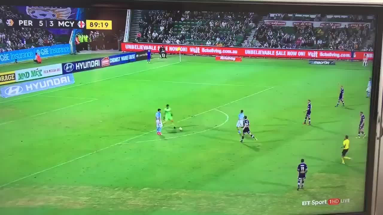 Some great skills from the Perth Glory Goalkeeper 😂⚽️ GIFs