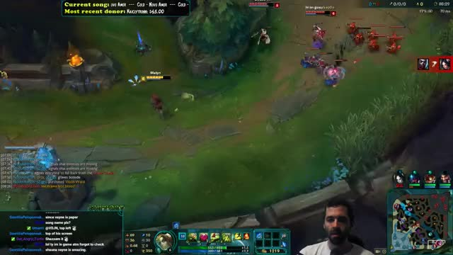 Gosu thinks he can 2v1 a 0 item Zyra...