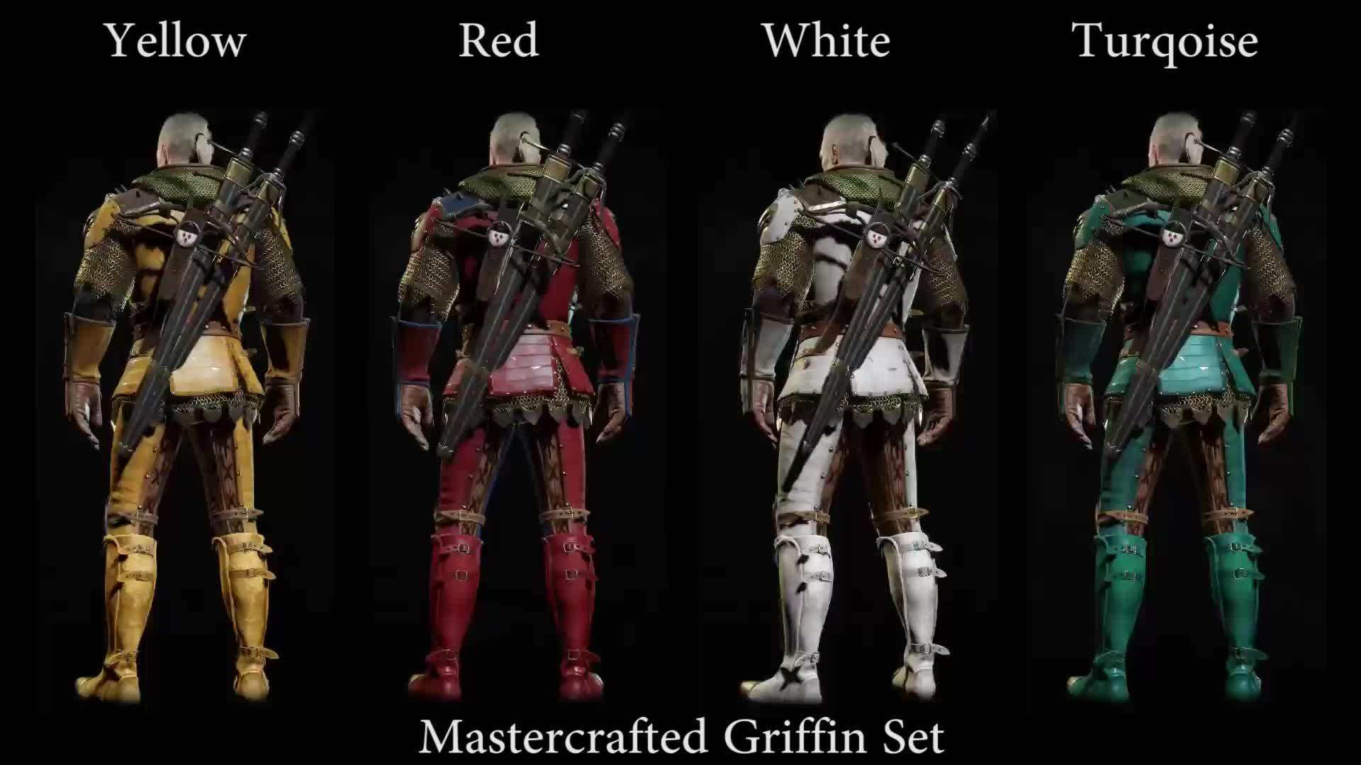Witcher 3 Grandmaster Griffin Yellow Red White Turqoise Gif Gfycat