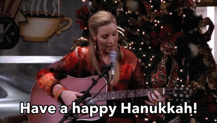 Lisa Kudrow, Phoebe Buffay, friends, hanukkah, happy hanukkah, holidays, Phoebe - Happy Hanukkah GIFs