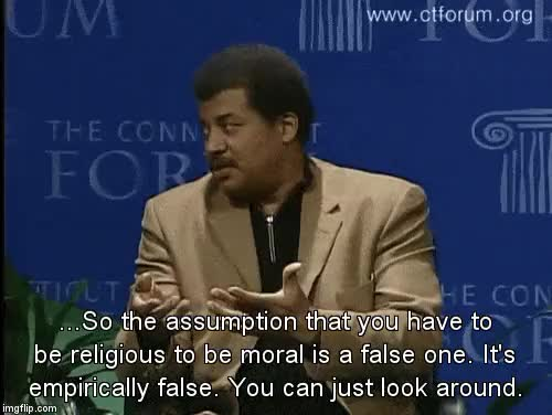 Watch The Blunt Truth GIF on Gfycat. Discover more agnostic, astronomy, astrophysics, atheism, atheist, bible, biology, chemistry, cosmos, cosmos a personal voyage, cosmos a spacetime odyssey, earth, empirical, engineering, evidence, god, god of the gaps, koran, math, neil degrasse tyson, physics, planet earth, religion, science, scientist, space, theology, torah, tyson, universe GIFs on Gfycat