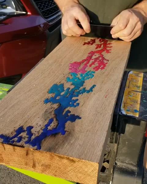 carpenter, handmade, oddlysatisfying, product, woodart, wooden, woodshop, woodwork, woodworker, woodworking, Crayon art GIFs