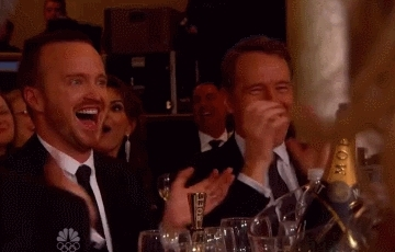 aaron paul, applause, bryan cranston, celebrities, celebrity, celebs, clap, clapping, respect, slow clap, Bryan Cranston and Aaron Paul Clapping GIFs