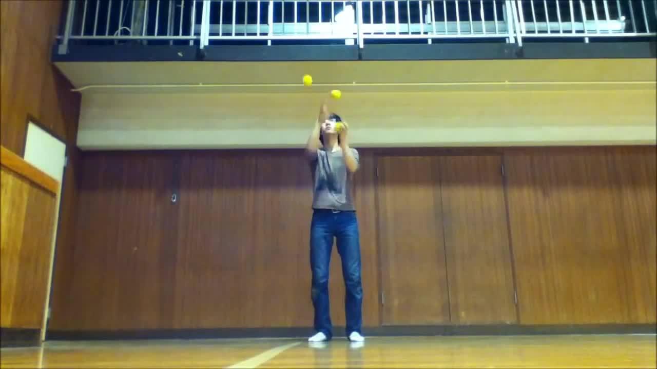juggling, yellow balls GIFs
