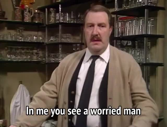 Watch and share Gordon Kaye GIFs and Frightened GIFs by MikeyMo on Gfycat