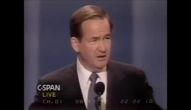 "Watch Pat Buchanan ""Cultural War"" speech GIF on Gfycat. Discover more related GIFs on Gfycat"