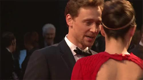Watch Tom Hiddleston & Cobie Smulders at Avengers Assemble GIF on Gfycat. Discover more related GIFs on Gfycat
