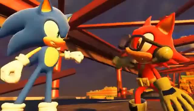 Watch and share Sonic Forces-FIST BUMP! GIFs on Gfycat