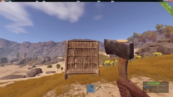playrust, [GIF] Hatchet, Stone hatchet, and Stone pickaxe are now throwable GIFs