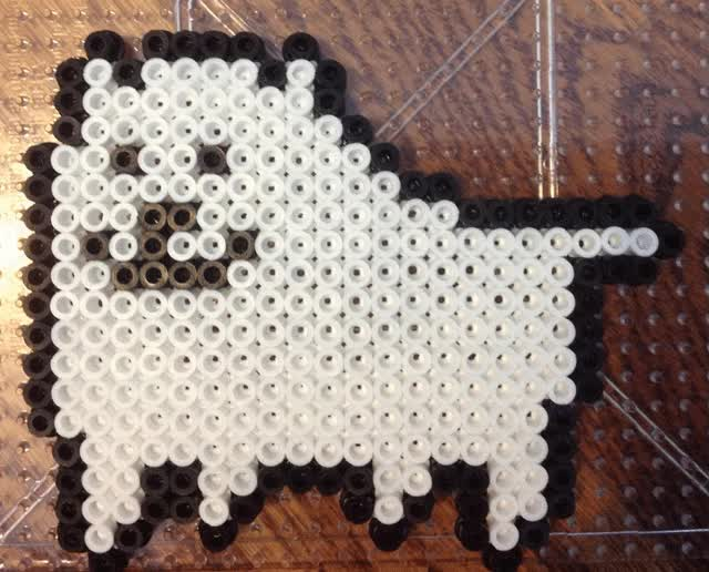 Watch and share {Perler} Undertale Dog Gif - Art Trade By OddishCrafts GIFs on Gfycat