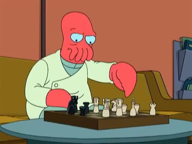 chess, futurama, john zoidberg, john zoidberg m.d, zoidberg (fictional character), Zoidberg Playing Chess GIFs
