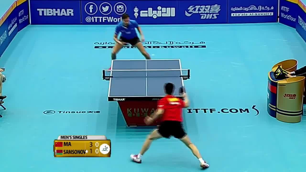 ittf, table tennis, tabletennis, 2016 Kuwait Open Highlights: Ma Long vs Vladimir Samsonov (1/4) GIFs