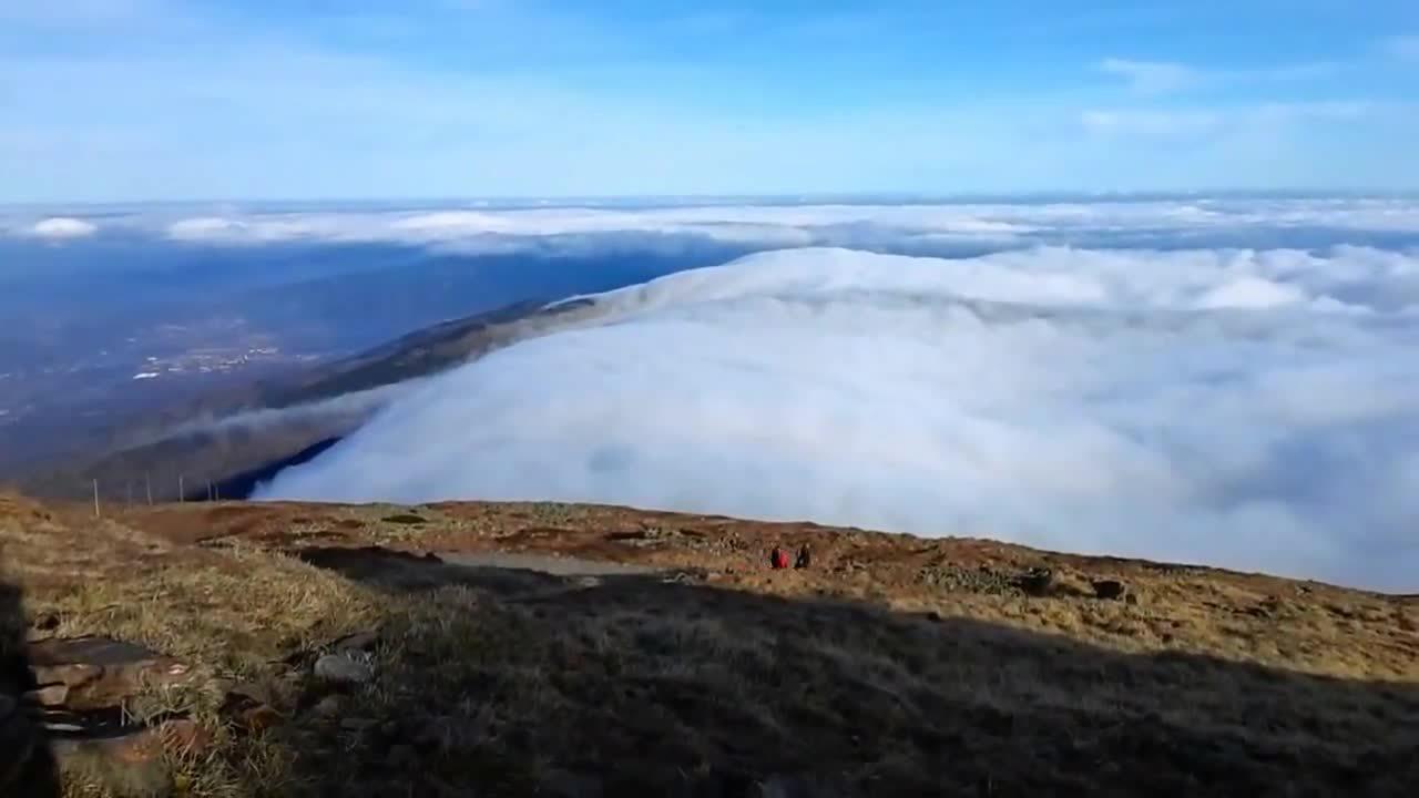 +clouds, +karkonosze, earthgifs, Clouds over Giant Mountains GIFs