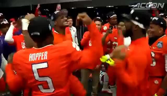 Clemson Football Deshaun Watson Teammates Locker Room