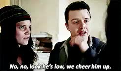 Watch and share Mickey Milkovich GIFs and Fiona Gallagher GIFs on Gfycat