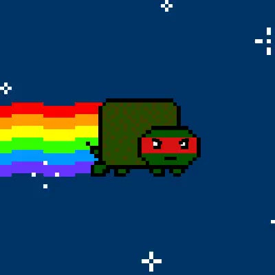 Watch and share Tmnt Raph GIFs and Nyan GIFs on Gfycat