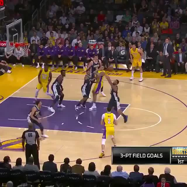 Watch Lonzo Ball with the huge chasedown block! GIF on Gfycat. Discover more related GIFs on Gfycat