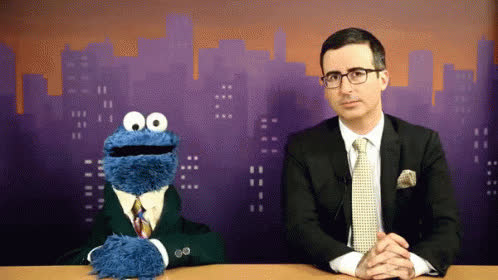 gif, jif, john oliver, Cookie Monster Knows GIFs