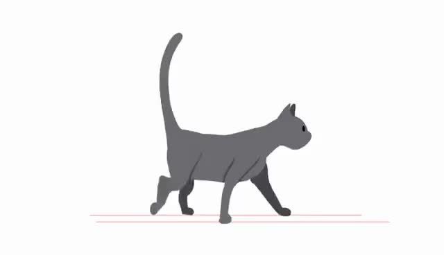 Watch and share Cat Walk Cycle GIFs on Gfycat