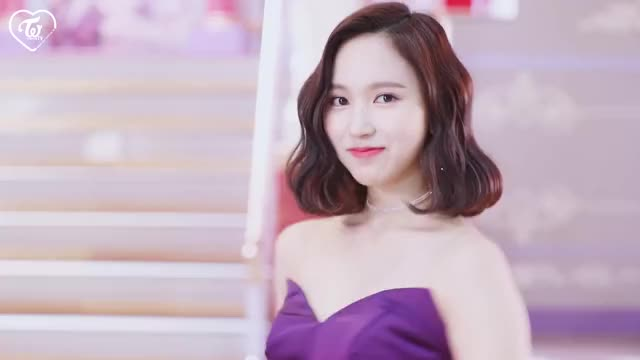 tWICE Mina in purple dress