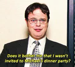 Watch and share Dwight Schrute GIFs and Dinner Party GIFs on Gfycat