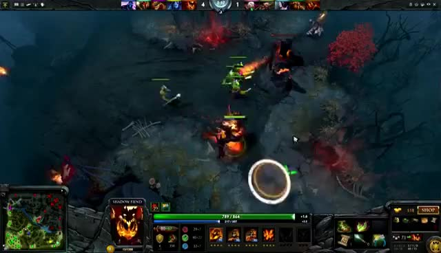 Watch and share Dota 2: Miracle Shadow Fiend- Gank Me Pls GIFs on Gfycat