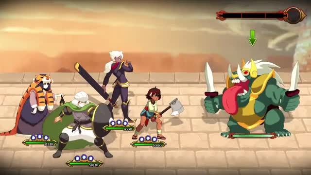 Watch and share Indivisible - This Is Still Work-in-progress, But Here's A Sneak Peak At The Updated #IndivisibleRPG Battle UI! #GameDev GIFs by ☆CocoNut on Gfycat
