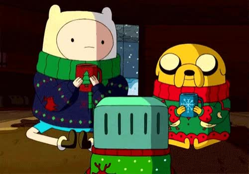 Watch and share Christmas Sweaters GIFs and Adventure Time GIFs by Reactions on Gfycat