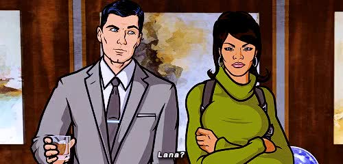 Watch this GIF on Gfycat. Discover more ...for some reason, Archer, Archer Fx, I need this on a t-shirt, I wanted to gif this since I watched the episode, Lana Kane, Sterling Archer, archeredit, god I'm so in love with this stupid show, mine: archer, my stuff GIFs on Gfycat