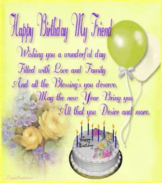 Watch and share Happy Birthday My Friend Party Birthday Happy Birthday Birthday Wishes Birthday Quote Birthday Friend My Birthday Birthday Greetings Cute Bi GIFs on Gfycat