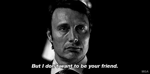 Watch this GIF on Gfycat. Discover more beautiful, black and white, dark, gif, gorgeous, hannibal, hannibal lecter, macabre, mads mikkelsen, morbid, my edit, my gif, nom nom GIFs on Gfycat