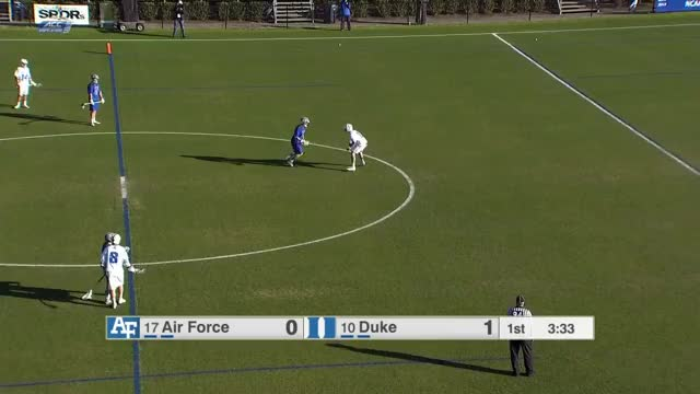 Watch Duke on ball defenders don't even touch Air Force dodgers GIF by Lacrosse Film Room (@laxfilmroom) on Gfycat. Discover more lacrosse GIFs on Gfycat